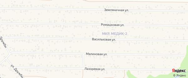 Васильковая улица на карте садового некоммерческого товарищества Птицевода с номерами домов