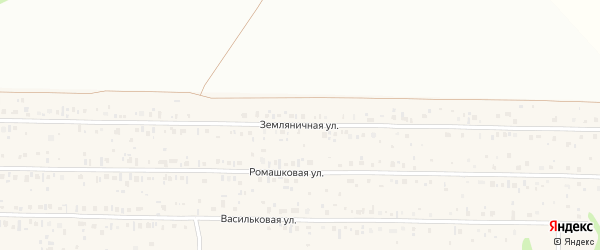 Земляничная улица на карте садового некоммерческого товарищества Деметры с номерами домов