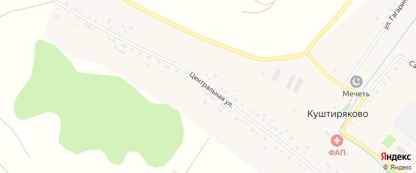 Центральная улица на карте села Куштиряково с номерами домов