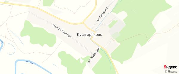 Карта села Куштиряково в Башкортостане с улицами и номерами домов