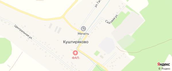 Речная улица на карте села Куштиряково с номерами домов