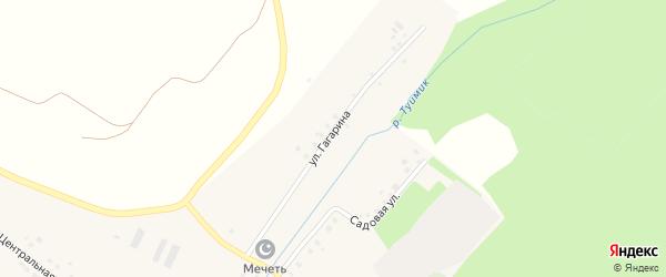 Улица Гагарина на карте села Куштиряково с номерами домов