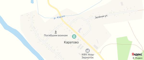 Школьная улица на карте села Каратово с номерами домов
