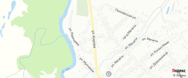 Улица Кирова на карте Октябрьского с номерами домов