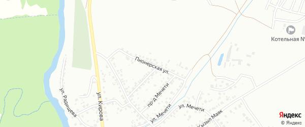 Пионерская улица на карте Октябрьского с номерами домов