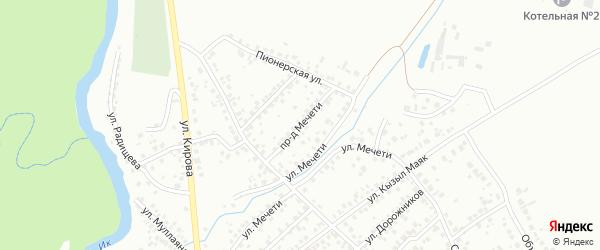 Проезд Мечети на карте Октябрьского с номерами домов
