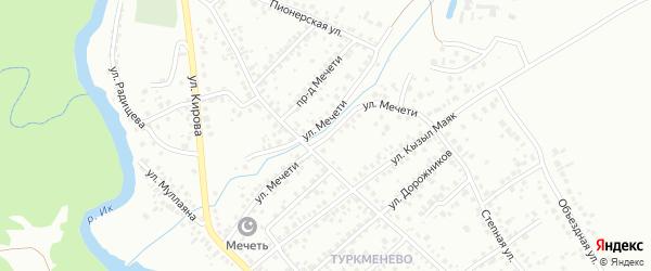 Улица Мечети на карте Октябрьского с номерами домов