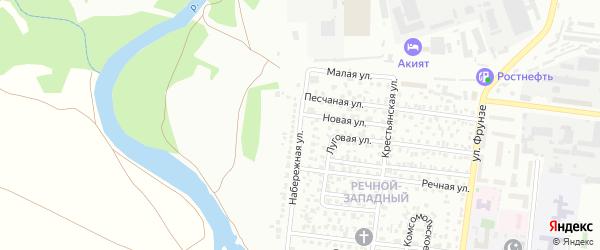 Набережная улица на карте Октябрьского с номерами домов