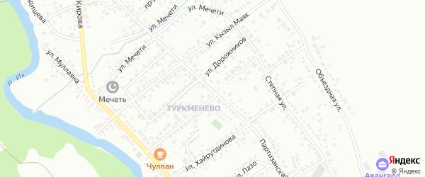 Партизанская улица на карте Октябрьского с номерами домов