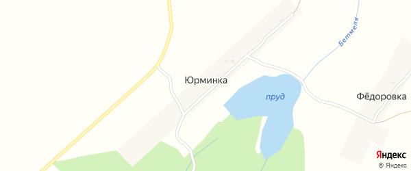 Центральная улица на карте деревни Юрминки с номерами домов