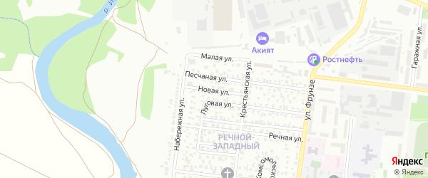 Новая улица на карте Октябрьского с номерами домов