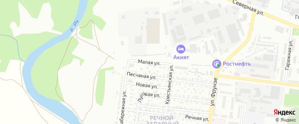Улица М.Худякова на карте Октябрьского с номерами домов