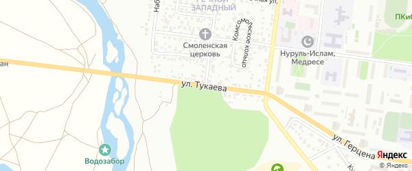 Улица Тукаева на карте Октябрьского с номерами домов