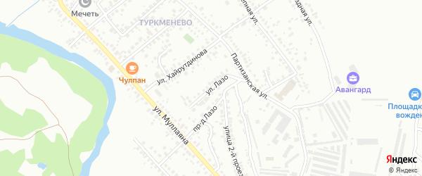 Улица С.Лазо на карте Октябрьского с номерами домов