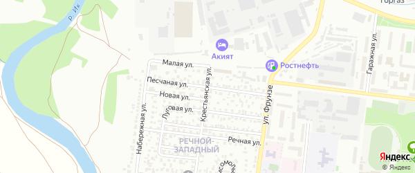 Песчаная улица на карте Октябрьского с номерами домов