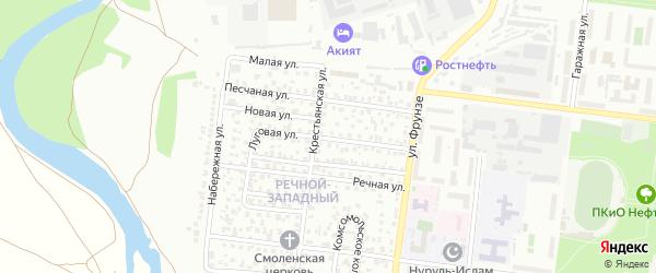 Луговая улица на карте Октябрьского с номерами домов
