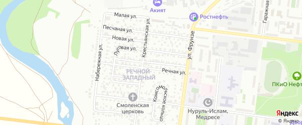 Переулок Фрунзе на карте Октябрьского с номерами домов