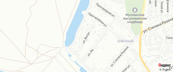 Улица Ватан на карте Октябрьского с номерами домов