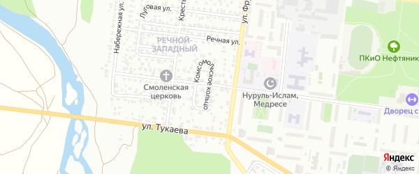 Комсомольское кольцо на карте Октябрьского с номерами домов