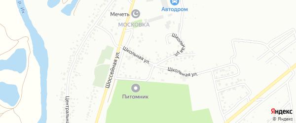 Школьная улица на карте Октябрьского с номерами домов