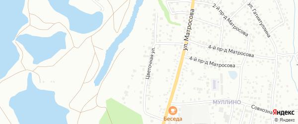 Цветочная улица на карте Октябрьского с номерами домов