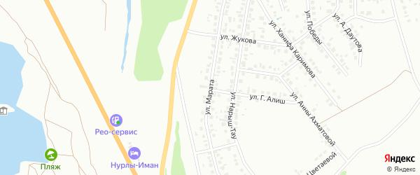 Улица Марата на карте Октябрьского с номерами домов