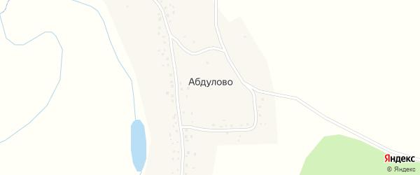 Северная улица на карте села Абдулово с номерами домов