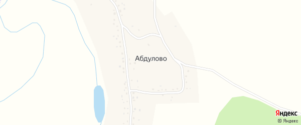Горная улица на карте села Абдулово с номерами домов