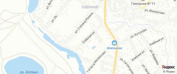 Озерная улица на карте Октябрьского с номерами домов