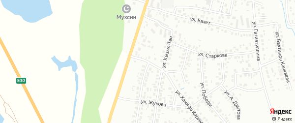 Улица Кызыл-Тан на карте Октябрьского с номерами домов