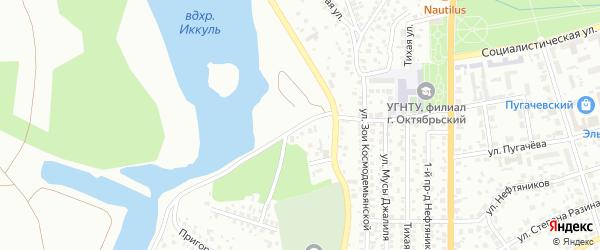 Фрунзе 1-й проезд на карте Октябрьского с номерами домов