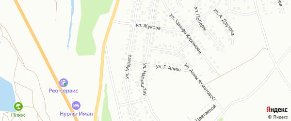 Улица Нарыш-Тау на карте Октябрьского с номерами домов