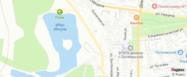 Пригородная улица на карте Октябрьского с номерами домов
