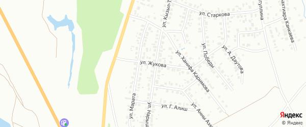 Улица Жукова на карте Октябрьского с номерами домов