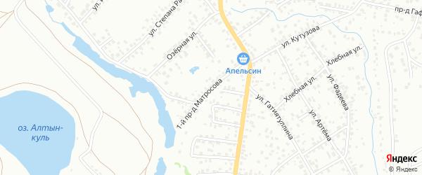 Матросова 1-й проезд на карте Октябрьского с номерами домов