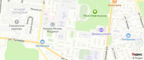 Комсомольская улица на карте Октябрьского с номерами домов
