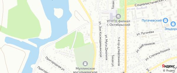 Фрунзе 2-й проезд на карте Октябрьского с номерами домов