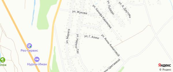 Улица Г.Алиш на карте Октябрьского с номерами домов