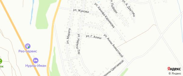 Проезд Г.Алиш на карте Октябрьского с номерами домов
