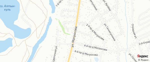 Улица Матросова на карте Октябрьского с номерами домов