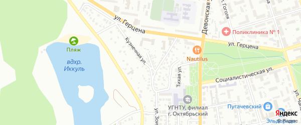 Столярная улица на карте Октябрьского с номерами домов