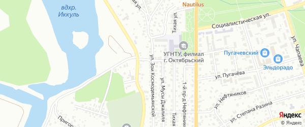 Улица З.Космодемьянской на карте Октябрьского с номерами домов