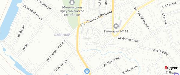 Улица Сайфи Кудаш на карте Октябрьского с номерами домов