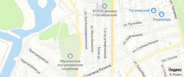 Улица М.Джалиля на карте Октябрьского с номерами домов