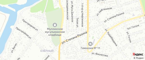 Тихой 2-й проезд на карте Октябрьского с номерами домов