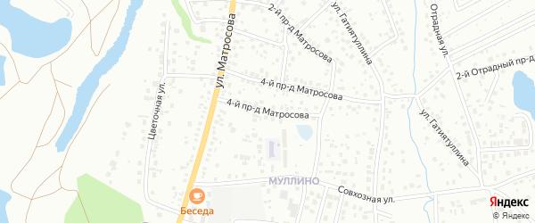 Матросова 4-й проезд на карте Октябрьского с номерами домов