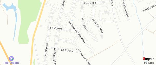 Улица Х.Каримова на карте Октябрьского с номерами домов
