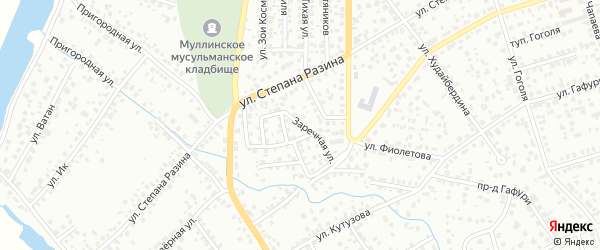 Заречная улица на карте Октябрьского с номерами домов