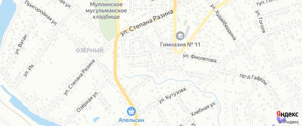 Проезд Ст.Разина на карте Октябрьского с номерами домов