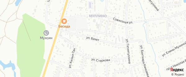Улица Бахет на карте Октябрьского с номерами домов